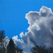 Jean-Pierre Beillard - Entre Deux Ciels Huile sur Toile 80x60
