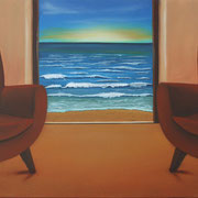 Klassische Malerei - Lasurtechnik, Meer, Blick nach draußen, Thomas Klee