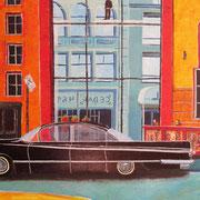 Acrylmalerei auf Leinen, 60x90cm, New York, Amerika, Künstlerviertel