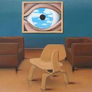 Klassische Malerei - Lasurtechnik, Rene Magritte, Das Auge, Fauteuil, Stuhl, Thomas Klee