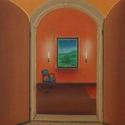 Klassische Malerei - Lasurtechnik, Das Tor, Eingang, Blick durch das Fenster, Landschaft, Thomas Klee