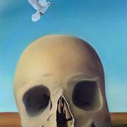 Klassische Malerei - Lasurtechnik, Der Tod, Totenkopf, Friedenstaube, Thomas KLee