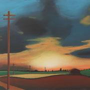 Klassische Malerei - Lasurtechnik, der Weg zum Licht, Sonnenuntergang, Thomas Klee