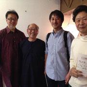 シタールの田中峰彦さん、ホーメイの等々力さんもかけつけてくれました。