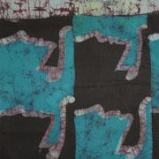 tessuto realizzato con la tecnica batik 100 x 100 cm. 2010