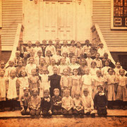 St. Boniface RC School - Fr. Zeller on the left