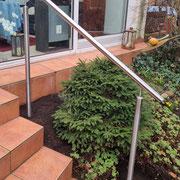 4-Stufen Handlauf aus Edelstahl