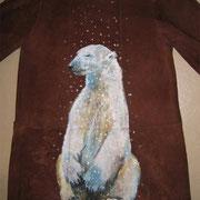 Ours sur daim pour les froids polaires