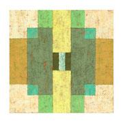 Sonar No.4, 30x30 cm, Acryl,Papier,Leinwand, 2005