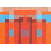 Warmer Empfang, 60x150 cm, Acryl,Papier,Leinwand, 2007