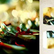 パリ「ヴァンプの市のスプーン」スプーンに写りこむ夏の光がとてもきれいだった。赤いリボンを結ばれた銀の取っ手。