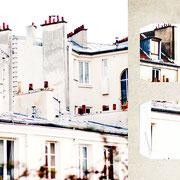パリ「屋根の上」赤や茶色の可愛らしいコップのような煙突。その土地の気候や歴史によって変わる屋根の形と質感。