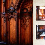 グラーツ「400年続くパン屋の壁」木目の美しい、古いパン屋の壁。雨風にさらされる外壁だけど、定期的に補修や掃除をして美しく保たれている。400年分の愛情がこもっている綺麗な飴色。