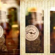 シャロン「パン屋の秤」シャロンの町中にある古いパン屋。そこで使われているパンの重さを量る秤。店の外からのガラス写りが美しかった。