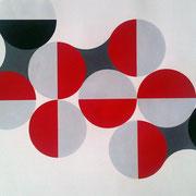 Quadratur des Kreises n°16, 2015  Acryl und Vinyl auf Aquarellkarton (400 gr/qm), 50 x 70 cm