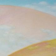 お花つみ M6号  24.2×41cm アクリル・キャンバス