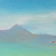 空と山と SM   15.8×22.7cm アクリル・キャンバス