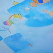 あまのはら-1 S100号   162×162cm アクリル・キャンバス