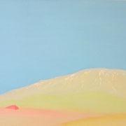 赤いテント M6号   24.2×41cm アクリル・キャンバス