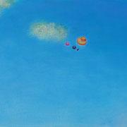 水辺のかたち M6号   24.2×41cm アクリル・キャンバス