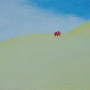 原っぱのかたち M6号   24.2×41cm アクリル・キャンバス