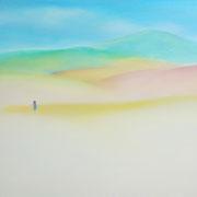 色の山 F30号  72.7×91cm アクリル・キャンバス