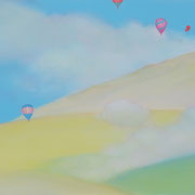 谷地の空 65×170.5cm アクリル・キャンバス