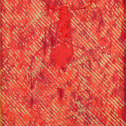 Sospensione dorata #I 1999-42x66/carta Arches