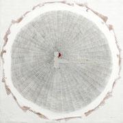 Polvere del tempo n°1 2014-100x100/acrilico-grafite-terre/tela