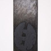 NeroArgento n° X 2000-76x48-su carta Arches