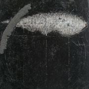 Senza titolo 2004-50x43/smalti-sabbia/tela