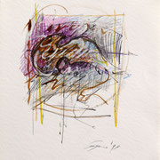 S.T.  1999-48x36/carta Arches