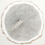 Polvere del tempo n°2 2014-100x100/acrilico-grafite-terre/tela