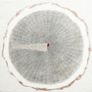 Polvere del tempo n°3 2014-100x100/acrilico-grafite-terre-/tela