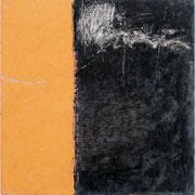 Libera sospensione 2003-80x80/acril-tempere-vernice/tela