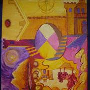 4 Seiten Bild ... von Nord, Süd, Ost, West / Unten, Oben, Rechts und Links betrachtbare Einzel-Welten