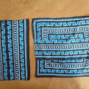 あまり布を、継ぎ合せて四角くします。
