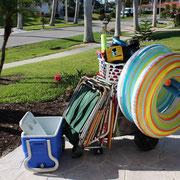 Marco Island Vacation Home Beach-Cart