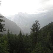 25.07.2014 Aufstieg zum Telegraph - Regen droht und tritt auch heftig ein...