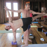 We work together to better understand each of the yoga postures.