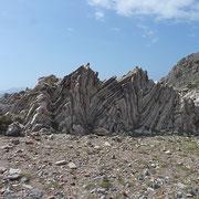 Felsfaltung Agios Pavlos