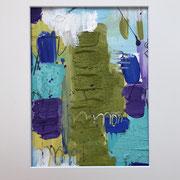 """""""Dynamisch"""" - 30x40x3 cm - Acrylpapier (gerahmt und Passepartout)"""