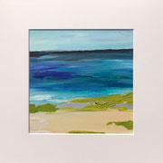 """""""At the Beach"""" - 32x32x3 cm - Karton (gerahmt und Passepartout)"""