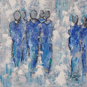 """""""Come Together"""" - 70x90x4,5 cm (gerahmt mit Schattenfuge)"""