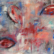 """Blue Meets Red"" - 120x80x3,5 cm"