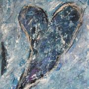 """Silver And Blue"" - 60x80x3,5 cm - verkauft"