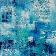 """""""Just Blue"""" - 80x100x3,5 cm"""