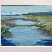 """""""Silent Water II"""" - 40x30 cm - Acrylpapier( gerahmt und Passepartout)"""