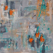 """Orange"" - 80x80x3,5 cm - verkauft"