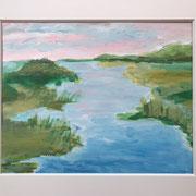 "Wandbild ""It will Be A Sunny Day"" - 40x30 cm Acrylpapier(gerahmt und Passepartout)"